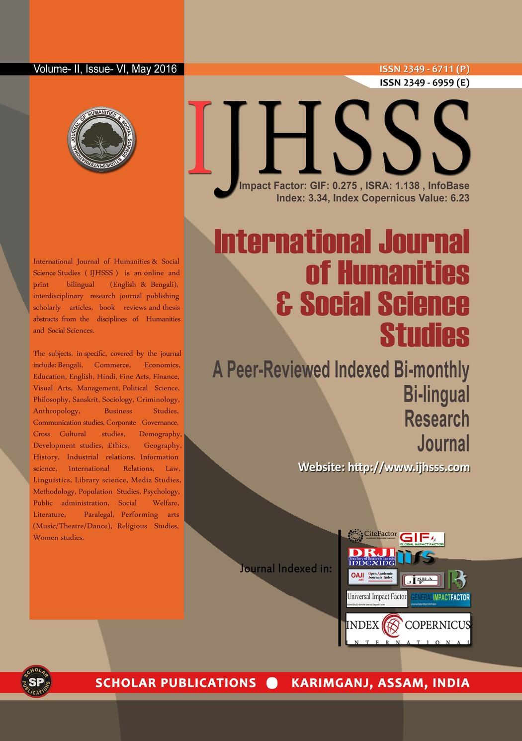 International Journal of Humanities & Social Science Studies