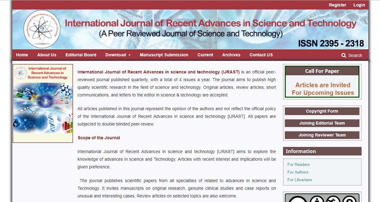 International Journal of Recent Advances in science and technology (IJRAST)